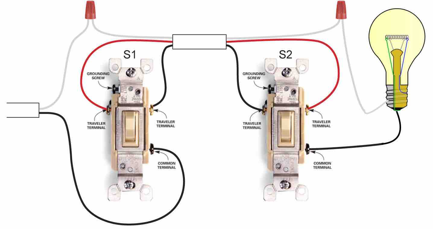 3 Way Wiring Schematic Change Your Idea With Diagram Design Dimmer Switch 4 Switches Video On How To Wire A Three Lights