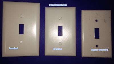 Switch Plate Sizes