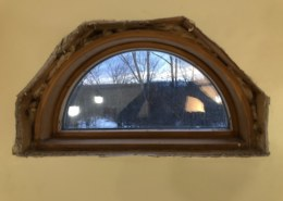 Half round window repair
