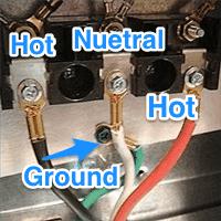 Oven connections,220 volt outlet