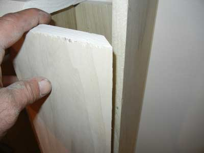 45 degree board cut