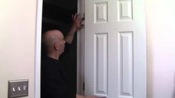 How to adjust a door when it's hitting the sides.