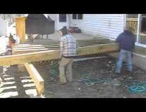 How To Frame A Deck Video Askmediy