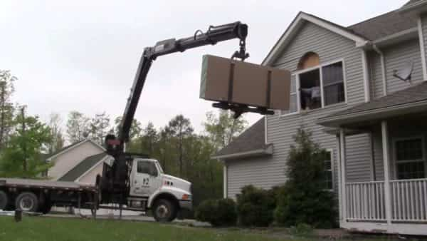 How to get sheetrock delivery to the second floor