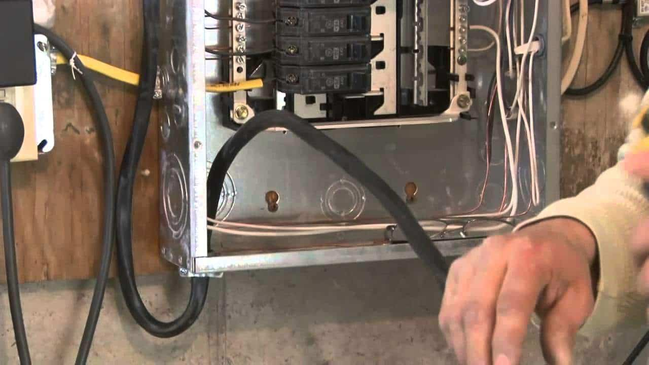 Sub Panel Installation With How To Video Wiring Through Outside Wall